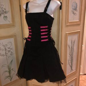 Tripp size small black pink corset dress